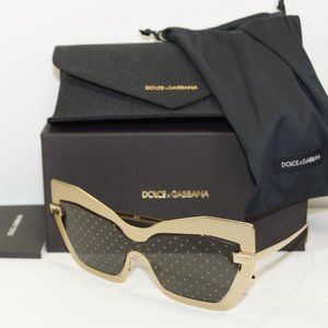 DOLCE & GABBANA CAT EYE SAND GOLD SUNGLASSES